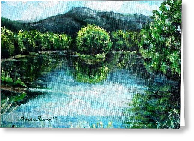Androscoggin Greeting Cards - Welcome to Maine  Greeting Card by Shana Rowe