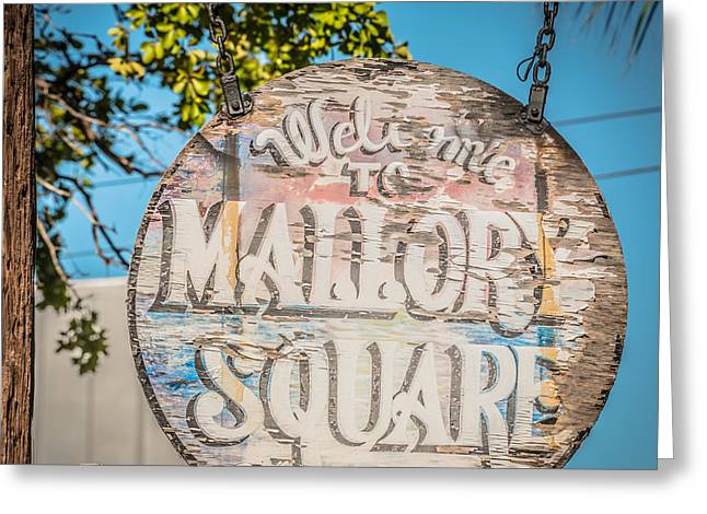 Liberal Greeting Cards - Welcome to Mallory Square Key West 2  - Square - HDR Style Greeting Card by Ian Monk
