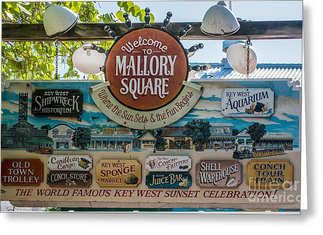 Liberal Greeting Cards - Welcome to Mallory Square Key West Greeting Card by Ian Monk