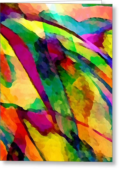 Experience Mixed Media Greeting Cards - Welcome To My World Triptych Part 2 Greeting Card by Angelina Vick