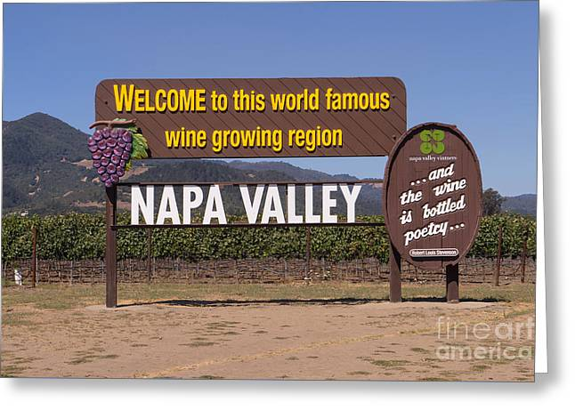 Welcome To Napa Valley California Dsc1681 Greeting Card by Wingsdomain Art and Photography