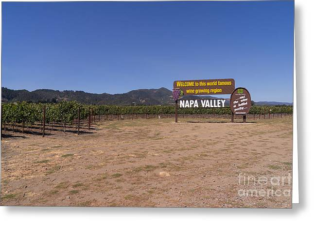 Napa Valley And Vineyards Greeting Cards - Welcome To Napa Valley California DSC1682 Greeting Card by Wingsdomain Art and Photography