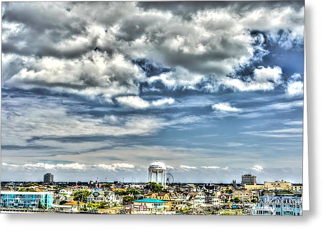 Tonemapping Greeting Cards - Welcome to Ocean City Greeting Card by Joshua Zaring