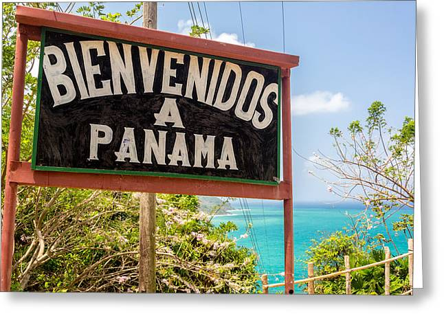 Miel Greeting Cards - Welcome to Panama Greeting Card by Jess Kraft