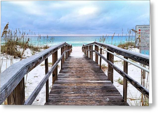 Florida Panhandle Greeting Cards - Welcome to Pensacola Beach Greeting Card by JC Findley