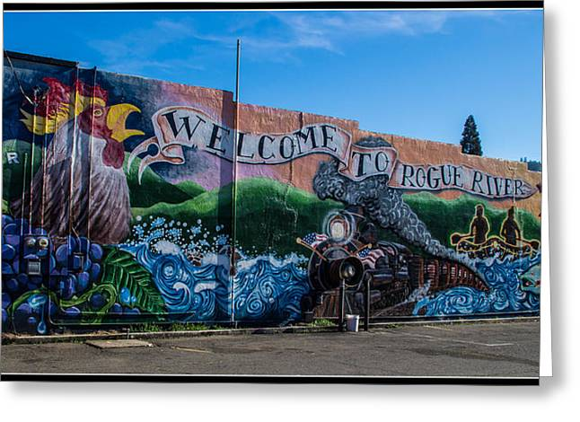 Welcome To Rogue River Oregon Greeting Card by Mick Anderson