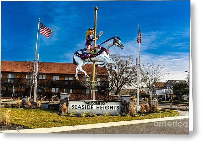 Restore The Shore Greeting Cards - Welcome To Seaside Heights Greeting Card by Gary Keesler