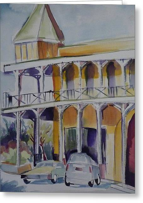 Welcome To The Artesia Greeting Card by Suzanne Willis