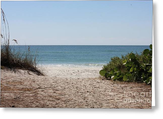 Peaceful Water Greeting Cards - Welcome to the Beach Greeting Card by Carol Groenen