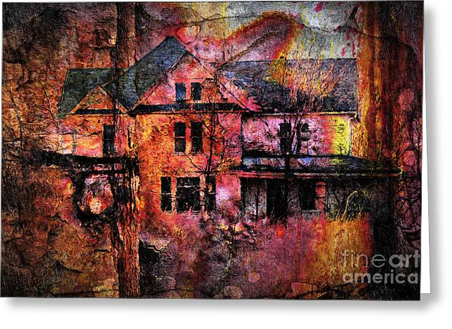 Artistic Photography Greeting Cards - Welcome To The House By Night Greeting Card by Georgiana Romanovna
