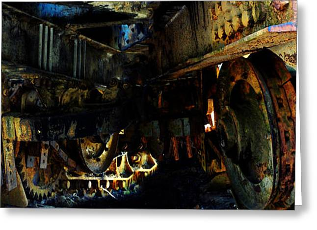 Mechanism Photographs Greeting Cards - Welcome to the Machine Greeting Card by Carl Rolfe
