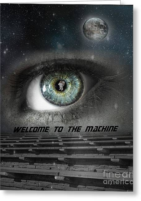 Astronomical Clock Greeting Cards - Welcome to the Machine Greeting Card by Juli Scalzi
