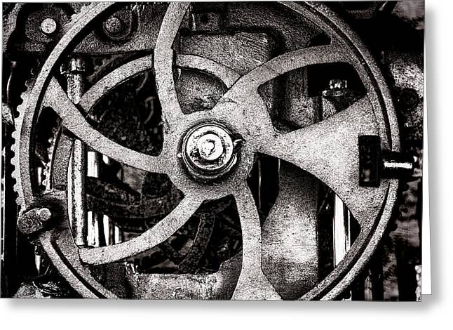 Best Sellers -  - Mechanism Photographs Greeting Cards - Welcome to the Machine Greeting Card by Olivier Le Queinec