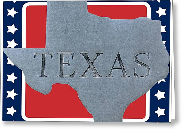 Red And White Greeting Cards - Welcome to the state of Texas Greeting Card by Christine Till
