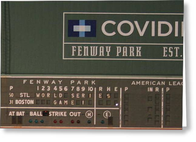 Fenway Park Greeting Cards - Welcome to the World Series Greeting Card by Stephen Melcher