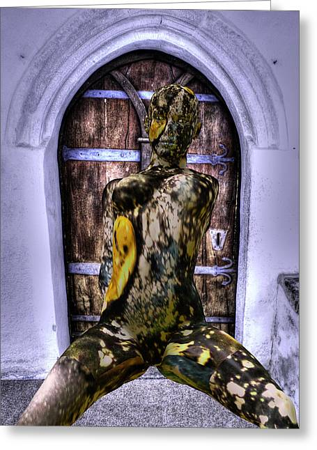 Welcome To Torture Dungeon  Greeting Card by Sir Josef Social Critic - ART