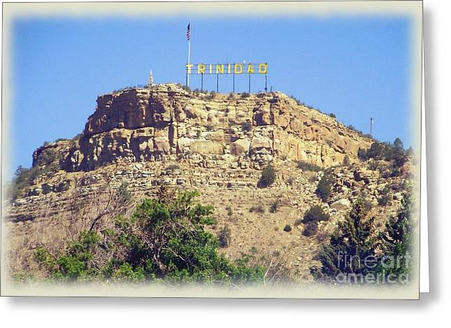 Trinidad Colorado Greeting Cards - Welcome to Trinidad Greeting Card by Charles Robinson