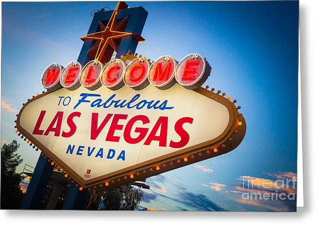 Opulence Greeting Cards - Welcome to Vegas Greeting Card by Inge Johnsson