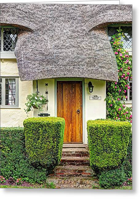 Thatch Greeting Cards - Welcome To Watts Folly Greeting Card by Gill Billington