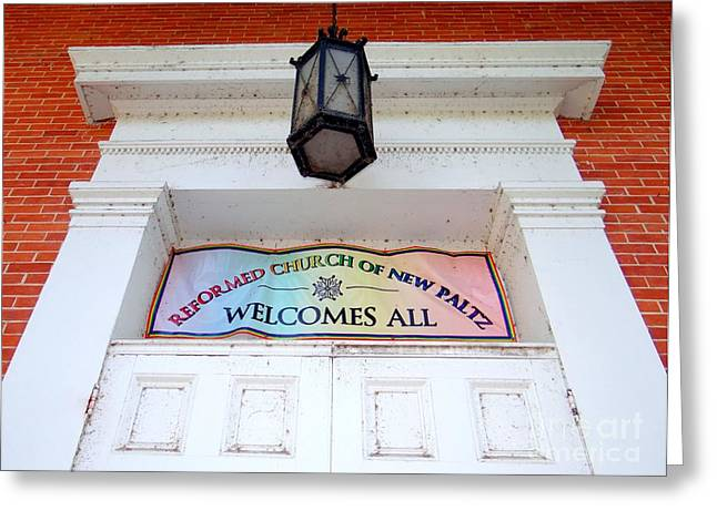 Church Fixture Greeting Cards - Welcomes All Greeting Card by Ed Weidman