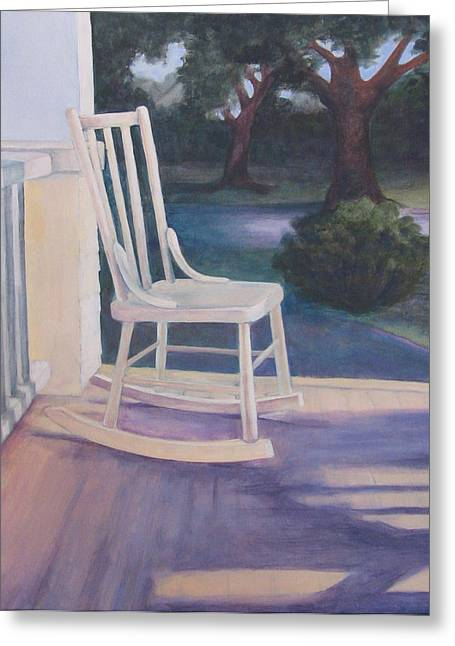 Shady Street Greeting Cards - Welcoming Porch Rocker  Greeting Card by Jo Thompson