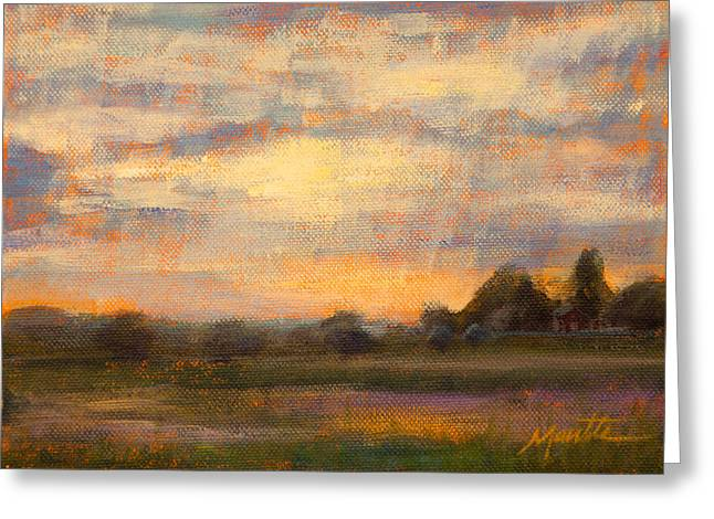 Field. Cloud Paintings Greeting Cards - Weld County Greeting Card by Athena  Mantle