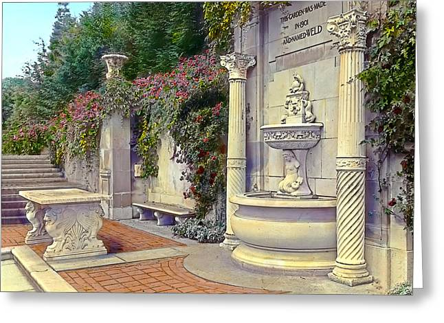 Kinkade Greeting Cards - Weld Garden Greeting Card by Terry Reynoldson