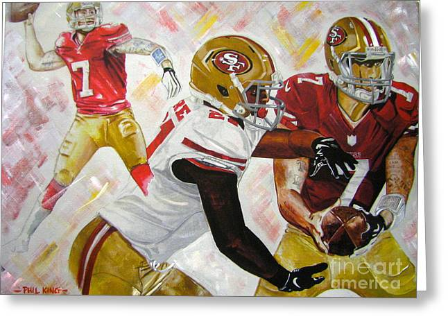 49ers Paintings Greeting Cards - Well Be Back Greeting Card by Phil  King