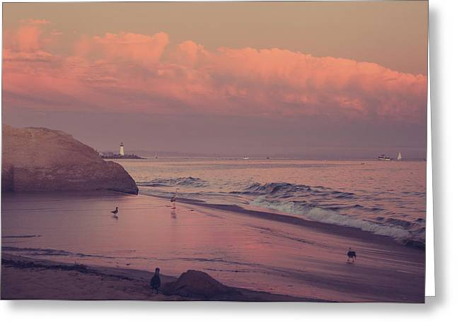 California Beach Greeting Cards - Well Just Sit Here For a While Greeting Card by Laurie Search