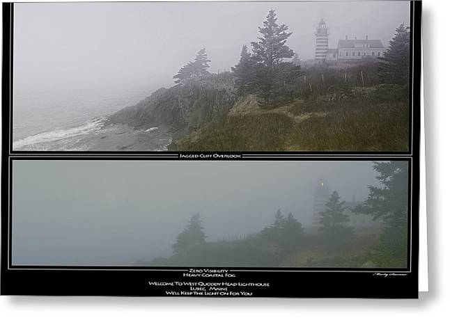 West Quoddy Light Greeting Cards - Well Keep the Light On For You Greeting Card by Marty Saccone