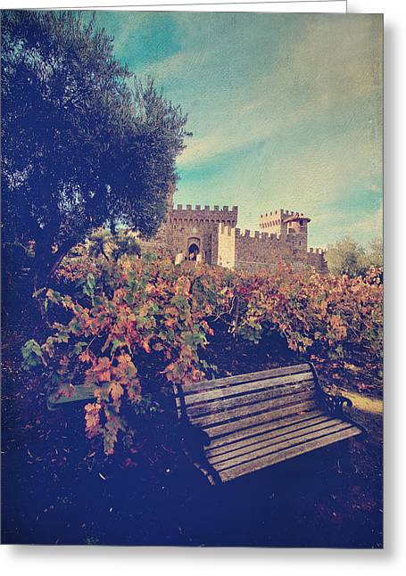 Calistoga Digital Art Greeting Cards - Well Meet Among the Vines Greeting Card by Laurie Search