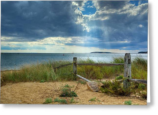 Cape Cod National Seashore Greeting Cards - Wellfleet Harbor Cape Cod Greeting Card by Bill  Wakeley