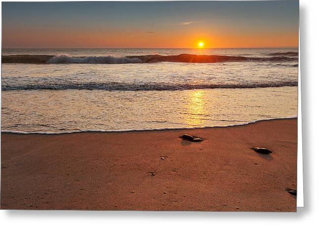 Cape Cod National Seashore Greeting Cards - Wellfleet Sunrise Greeting Card by Bill  Wakeley