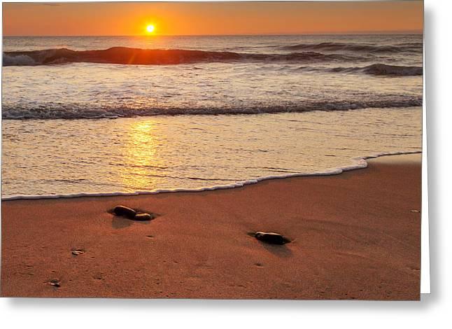 Wellfleet Sunrise Square Greeting Card by Bill Wakeley