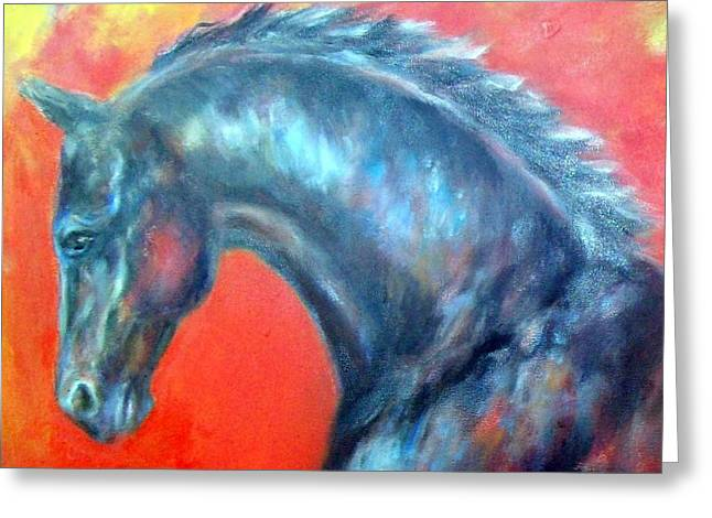 Expressionist Equine Greeting Cards - Wellington 1 Greeting Card by Relly Peckett