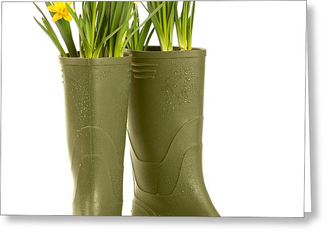 Wellington Boots Greeting Card by Amanda And Christopher Elwell