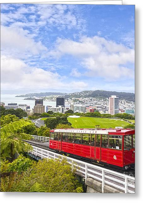 Cables Greeting Cards - Wellington Cable Car New Zealand Greeting Card by Colin and Linda McKie
