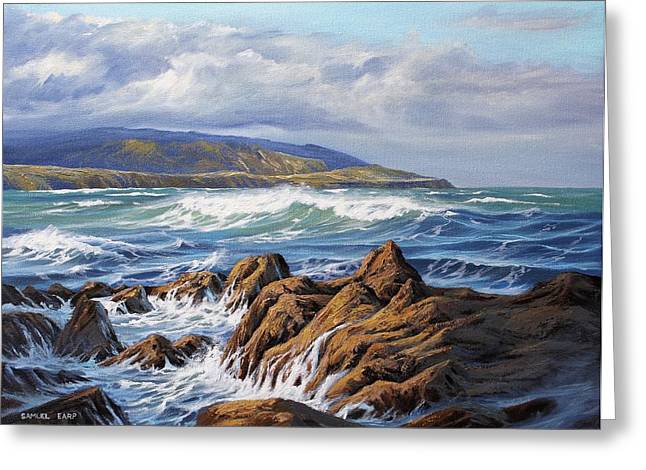 Aotearoa Greeting Cards - Wellington South Coast Greeting Card by Samuel Earp