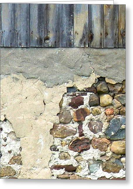 Debbie Finley Greeting Cards - Wells Barn Texture Greeting Card by Debbie Finley