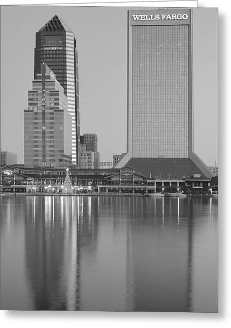 Jacksonville Florida Greeting Cards - Wells Fargo and Company Greeting Card by Frozen in Time Fine Art Photography