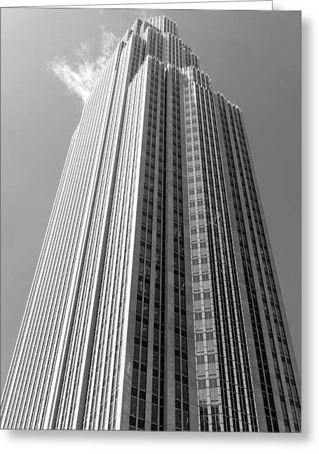 Wells Fargo Center In Minneapolis Greeting Card by Jim Hughes