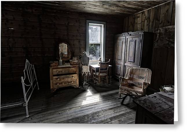 Garnet Greeting Cards - Wells Hotel Bridal Suite - Garnet Ghost Town - Montana Greeting Card by Daniel Hagerman