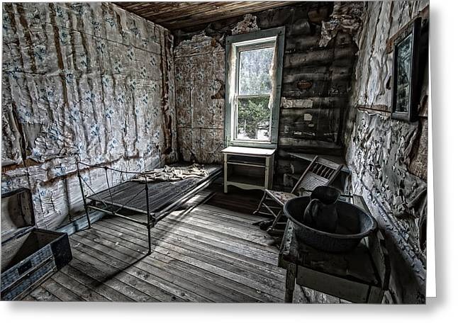 Garnet Greeting Cards - Wells Hotel Room 2 - Garnet Ghost Town - Montana Greeting Card by Daniel Hagerman
