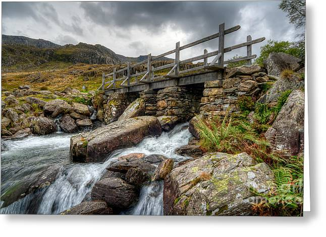 Stream Digital Art Greeting Cards - Welsh Bridge Greeting Card by Adrian Evans