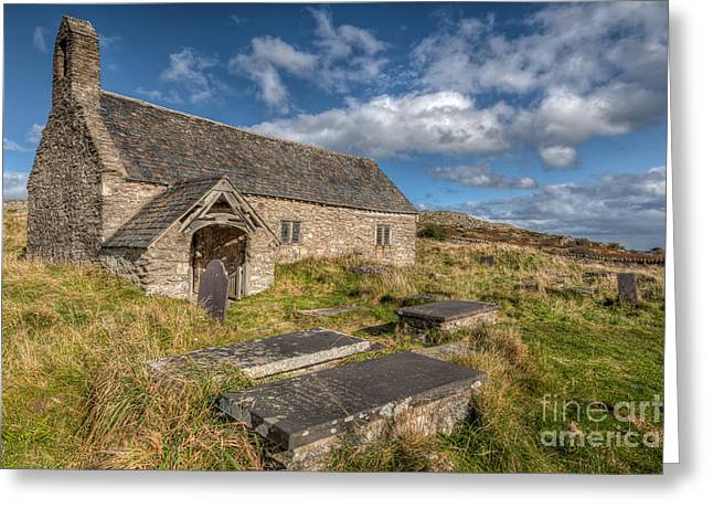 Religious Digital Art Greeting Cards - Welsh Church Greeting Card by Adrian Evans