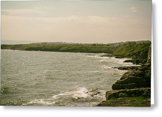 Newborough Greeting Cards - Welsh Coast by Moelfre Greeting Card by Nomad Art And  Design