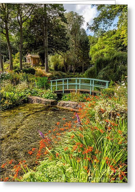 Summer House Greeting Cards - Welsh Garden Greeting Card by Adrian Evans