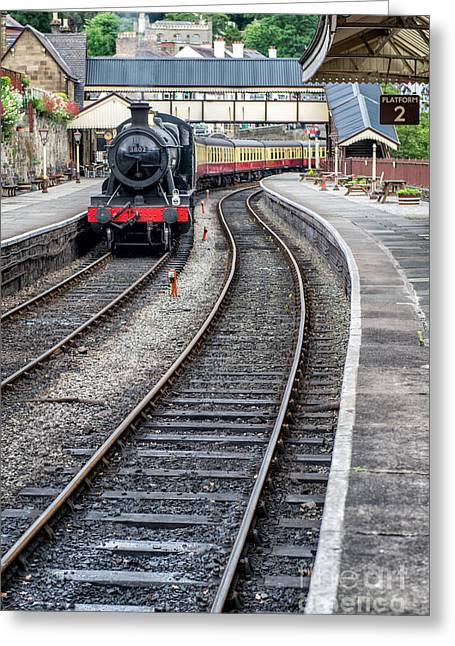 2 Seat Greeting Cards - Welsh Railway Greeting Card by Adrian Evans