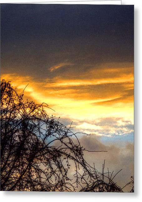 Wrexham Greeting Cards - Welsh Sky Greeting Card by Brainwave Pictures