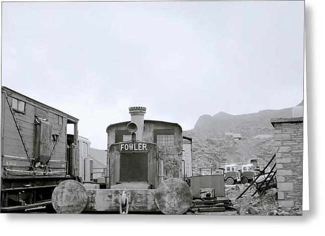 Mining Photos Greeting Cards - Welsh Steam Train Greeting Card by Shaun Higson